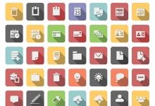 扁平化商务图标素材下载